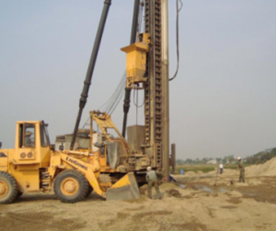 xử lý nền đất yếu bằng cọc cát